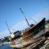 Vieux bâteaux à Camaret-sur-Mer